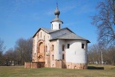 Ancient Church of St. Paraskevi. Velikiy Novgorod, Russia Royalty Free Stock Photos
