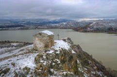The ancient church Sveti Ioan Letni near Pchelina dam, Bulgaria Royalty Free Stock Photos