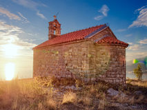 Ancient church on the top of mountain Royalty Free Stock Photo
