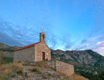 Ancient church on the top of mountain Royalty Free Stock Photos