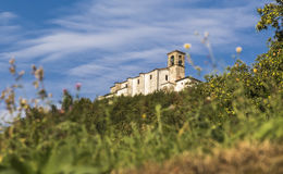 An ancient church on top of a mountain Royalty Free Stock Images