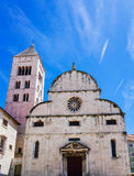 Ancient Church and  tower in Zedar Croatia Stock Photo