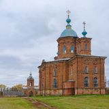 An ancient church in Vorozhba village Ukraine Stock Image