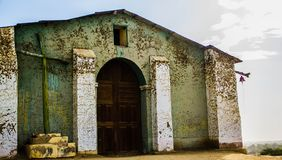 Ancient church in a city on Peru America latina stock image