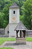 Ancient church and well in Cerveny Klastor Stock Image