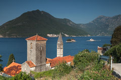 Ancient Churches in Perast town Stock Images