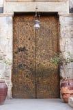 Ancient cipper door. At old cairo Stock Photos