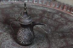 Ancient cipper door. Ancient cipper teapot - coffe pot at old cairo Stock Image