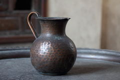 Ancient cipper door. Ancient cipper teapot - coffe pot at old cairo Royalty Free Stock Image