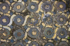 Ancient Circular Floor Tiles Stock Photography