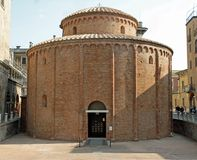Ancient circular shaped Romanesque church named Rotonda di San L Royalty Free Stock Photos