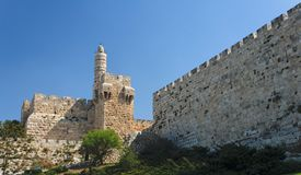 Ancient Citadel And Tower Of David In Jerusalem Stock Photos