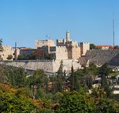 Ancient Citadel And Tower Of David In Jerusalem Royalty Free Stock Photography