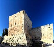 Ancient Citadel inside Old City Jerusalem Stock Images