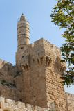 Ancient citadel and Tower of David in Jerusalem Royalty Free Stock Photo