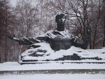 Monument To Sergei Yesenin. royalty free stock photos