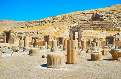 The ancient cities of Persia. Persepolis is the visit card of Pars province and one of the most famous landmarks of Iran Stock Photo