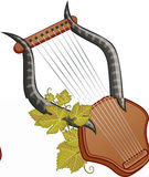 Ancient cittern with vine Stock Images