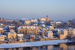 Ancient city. In winter time Stock Photo