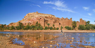 Ancient city of Ait Benhaddou in Morocco Royalty Free Stock Photos