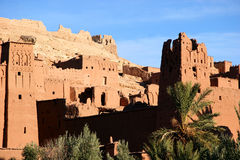 Ancient city of ait benhaddou, morocco stock images