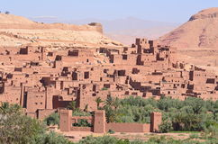 Ancient City of Ait Benhaddou in Morocco Stock Images