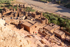 Ancient city of Ait Benhaddou in Morocco Stock Image
