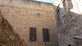Ancient houses and streets of Akko Acre, Israel Royalty Free Stock Photos