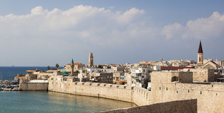 Ancient city of Akko in the morning. Israel Royalty Free Stock Image