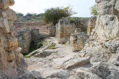 Ancient city and amphitheater, Crimea, Hersonissos. Ancient city and the amphitheater, the nature of the Crimea, Hersonissos Stock Photo