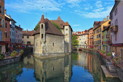 The ancient city of Annecy in Provence Stock Photography