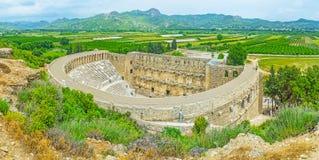The ancient city of Aspendos Stock Photos