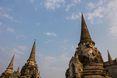 Ancient city of Ayutthaya. Pagoda at Wat Phra Sri Sanphet Temple, Ayutthaya, Thailand Stock Photo
