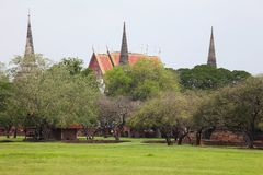 Ancient City in Ayutthaya Province of Thailand Royalty Free Stock Image