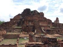 Ancient city Ayutthaya Thailand. The historical park ancient Ayutthaya at Mahatat Stock Photography