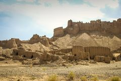 The ancient city of Bam in the south of Iran. Sand city stock photography
