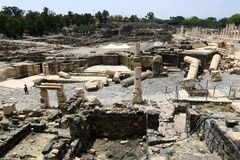 The ancient city of Beit She`an Royalty Free Stock Images