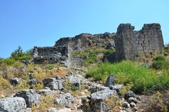 The ancient city of Bergama kingdom due to Silyon Stock Photos