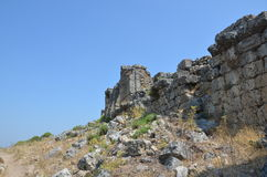 The ancient city of Bergama kingdom due to Silyon Royalty Free Stock Images