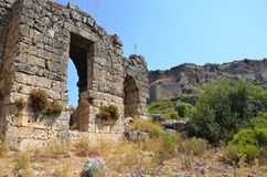 The ancient city of Bergama kingdom due to Silyon Royalty Free Stock Photo
