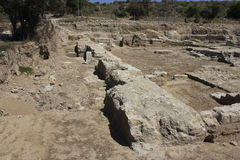 Ancient City of Biblical Ashkelon in Israel. Is one most important archaeological park in the Holy Land Stock Photography