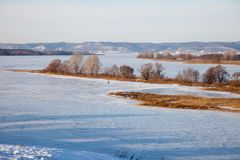 Ancient city of Bolgar, View of the Volga. Tatarstan, Russia royalty free stock photo