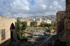 Ancient city of Byblos, Mediterranean coast, Lebanon Royalty Free Stock Photo
