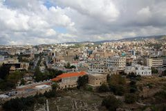Ancient city of Byblos, Mediterranean coast, Lebanon Royalty Free Stock Image