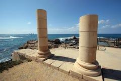 Ancient city Caesarea Stock Photos