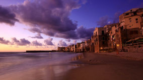 The ancient city of Cefalu Stock Image