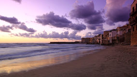 The ancient city of Cefalu Stock Photo