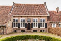 Ancient city center of Amersfoort Netherlands. Small tradiitional houses  De armen de Poth in the ancient city center of Amersfoort Netherlands Stock Photography