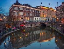 Ancient city center of Utrecht, Netherlands Royalty Free Stock Photos