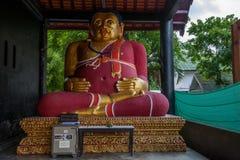 The ancient city of Chiang Mai, Thailand Wat Chedi Luang (Wat Chedi Luang) Piandian pagoda, Buddha Royalty Free Stock Images